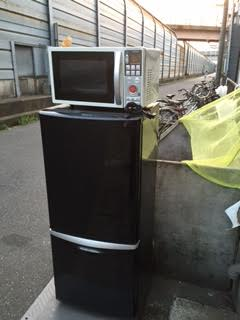 冷蔵庫、電子レンジ回収処分